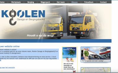 Uitbreiding van de website